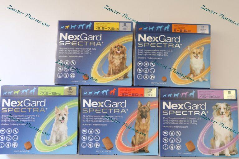 НексГард Спектра/NexGard Spectra - 3 броя овкусени таблетки (цяла кутия)