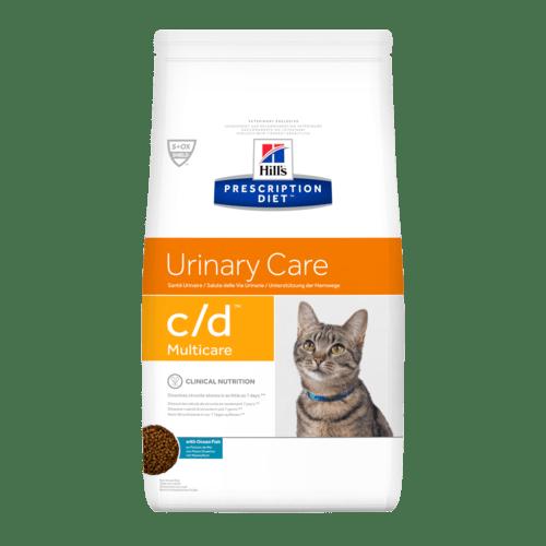 PD Feline c/d MulticareOcean Fish 1,5 kg. –диета с риба за котки имащи струвитни, калциево-оксалатни и калциево-фосфатни уролити