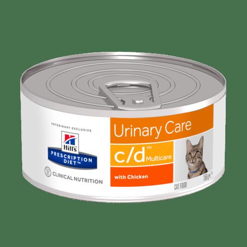 PD Feline c/d консерва 0,16 kg.  – диета за котки имащи струвитни, калциево оксалатни и калциево фосфатни уролити