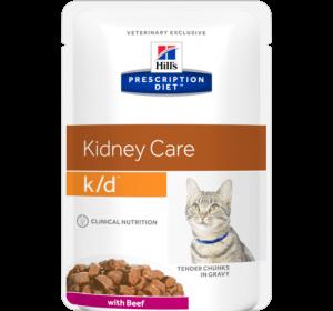 PD Feline k/d пауч (пиле,рибар, тeлешко) 0,09 kg. - при хронична бъбречна недостатъчност при котки - 0