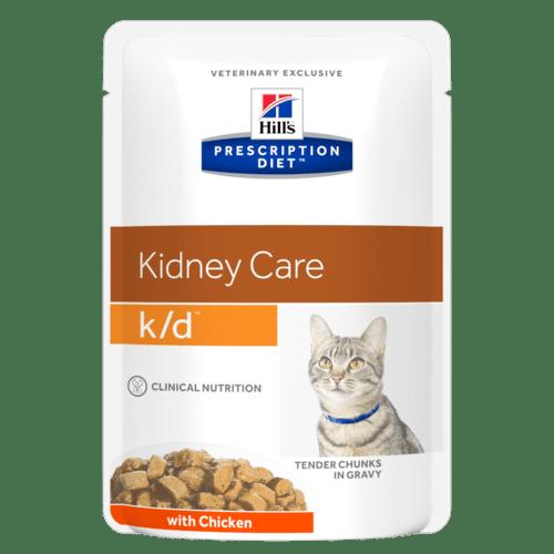 PD Feline k/d пауч (пиле,рибар, тeлешко) 0,09 kg. - при хронична бъбречна недостатъчност при котки