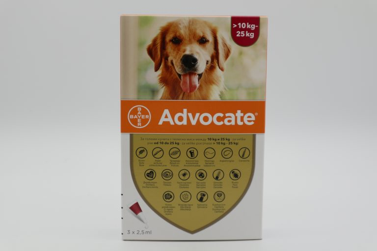 Адвокейт/Advocate Dog - външно и вътрешно обезпаразитяване на куче 1 пипета - 1