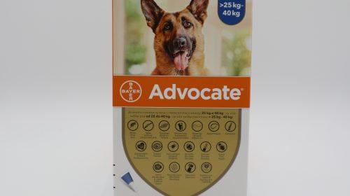 Адвокейт/Advocate Dog - външно и вътрешно обезпаразитяване на куче 1 пипета - 0