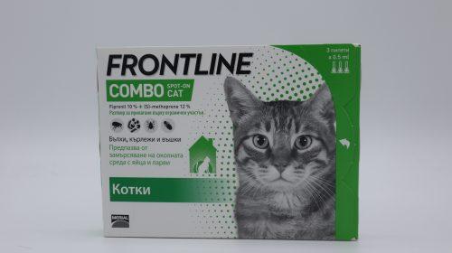 Фронтлайн Комбо/Frontline Combo - за котки цяла кутия (3 пипети)