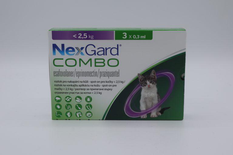 Nexgard Combo / Нексгард Комбо - Spot On пипети за цялостно вътрешно и външно обезпаразитяване при котки - 1 пипета - 0
