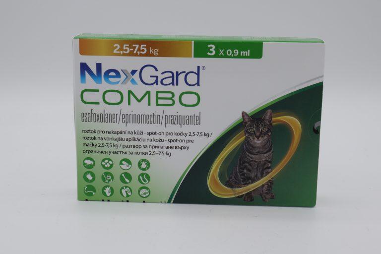 Nexgard Combo / Нексгард Комбо - Spot On пипети за цялостно вътрешно и външно обезпаразитяване при котки - 1 пипета